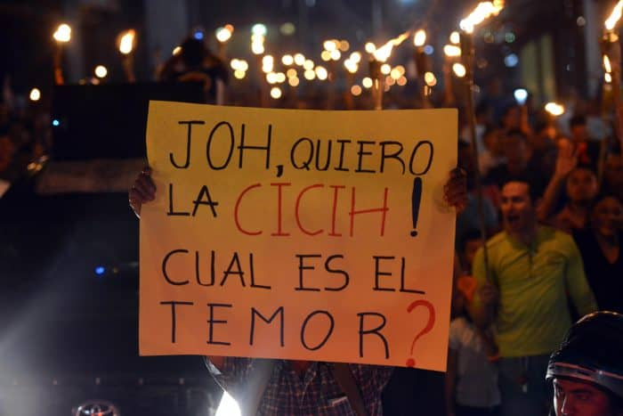 Hondurans protest in the latest in a series of marches.
