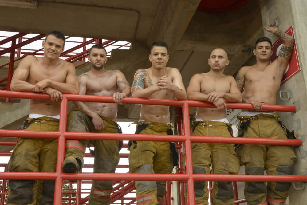 Photos from the 2016 Bomberos Calendar.