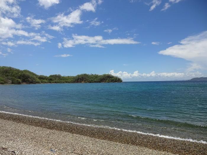 Bahía El Hachal, looking out on Bahía Cuajiniquil in the remote Murciélagos sector of Santa Rosa National Park, Costa Rica.