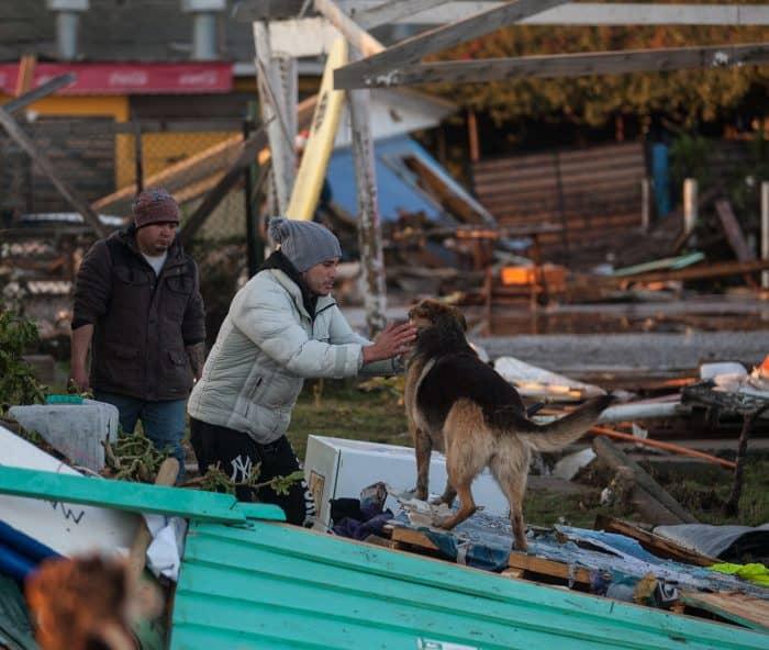 Chile earthquake survivors.