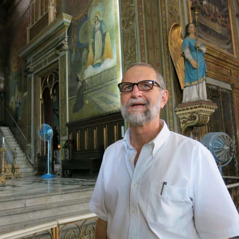 Padre Gilberto ahead of Pope Francis visit.