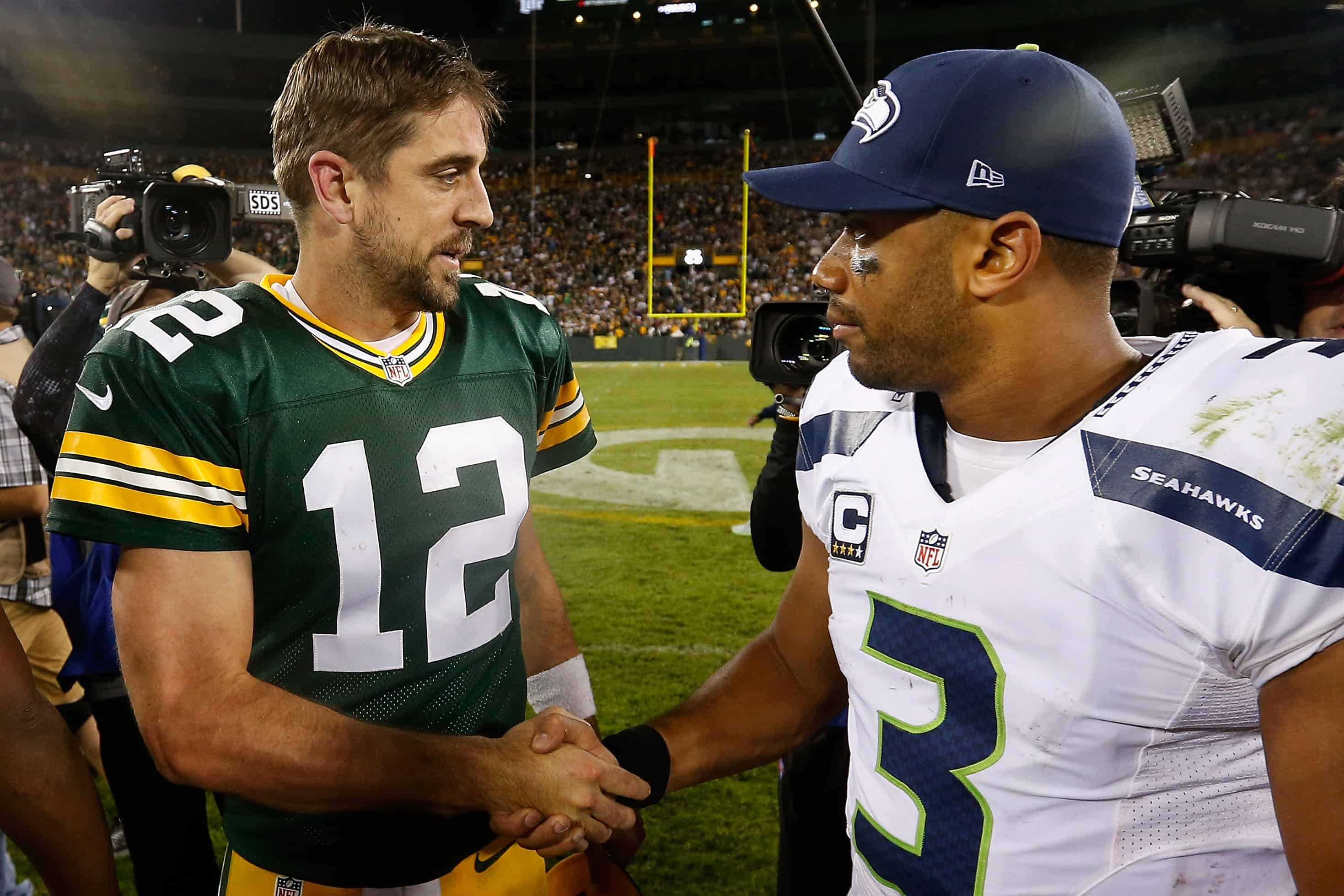 NFL: Green Bay Packers and Seattle Seahawks QBs.