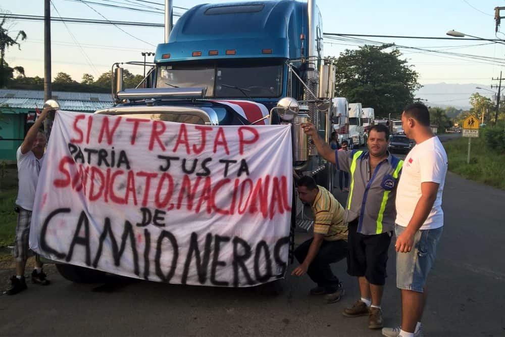Truck drivers' demonstration, Sept. 21 2015