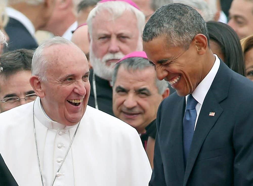 Pope Francis and Barack Obama.