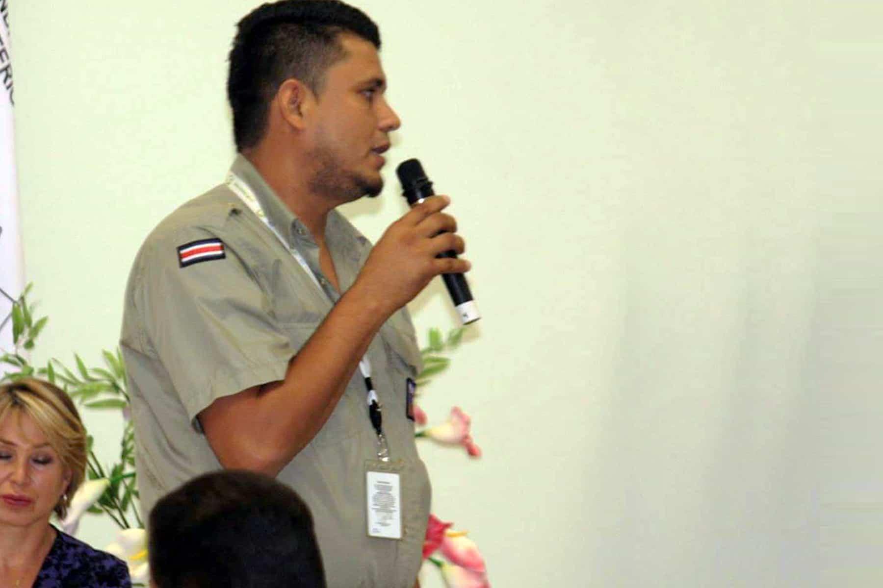Mauricio Steller Fallas, park ranger