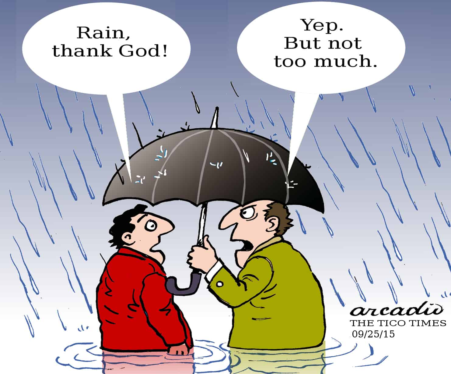 Cartoon of flooding