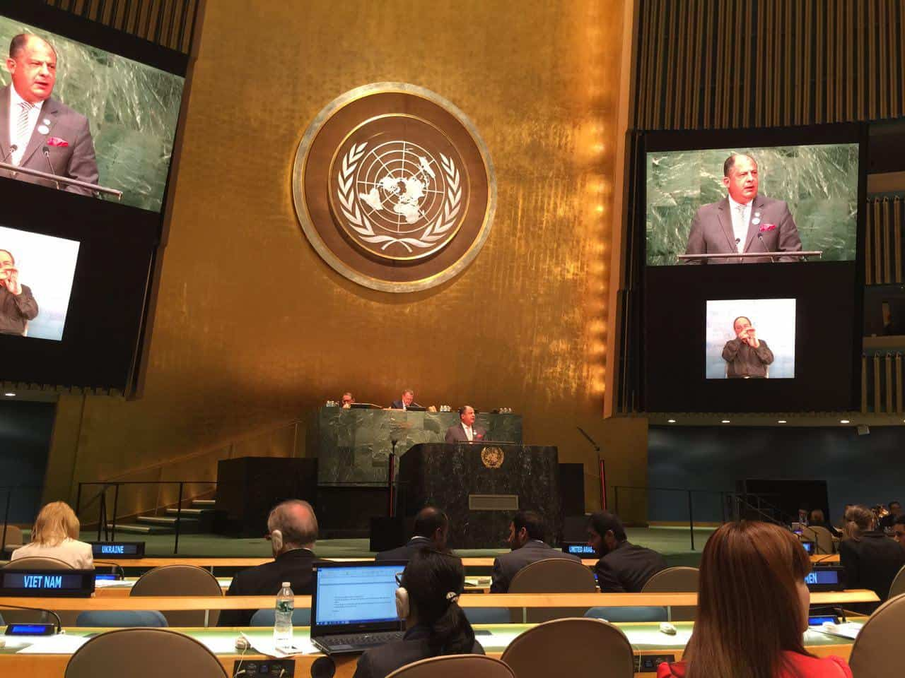 Luis Guillermo Solis at the U.N.