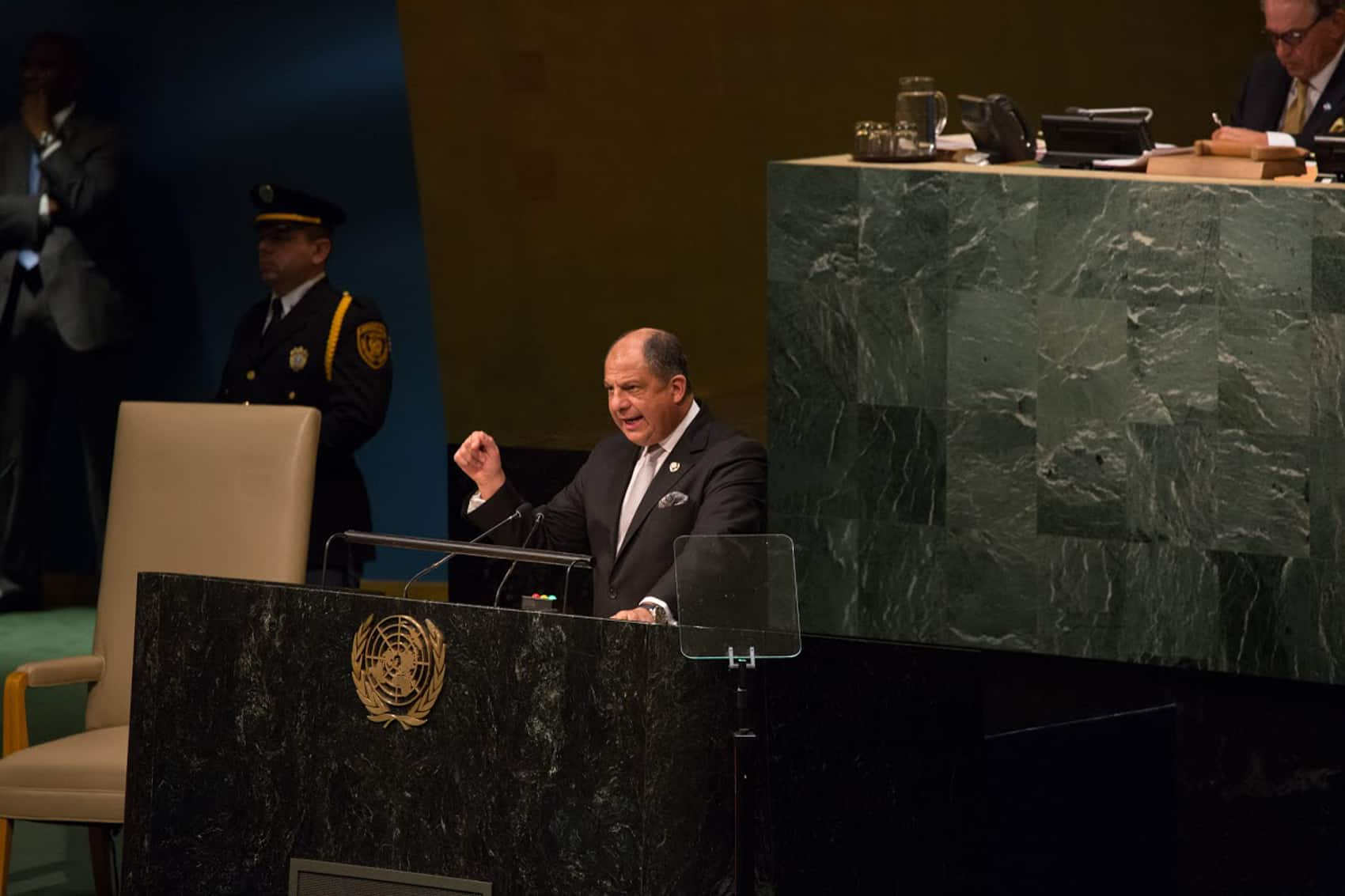 Costa Rica President Luis Guillermo Solís at the U.N.