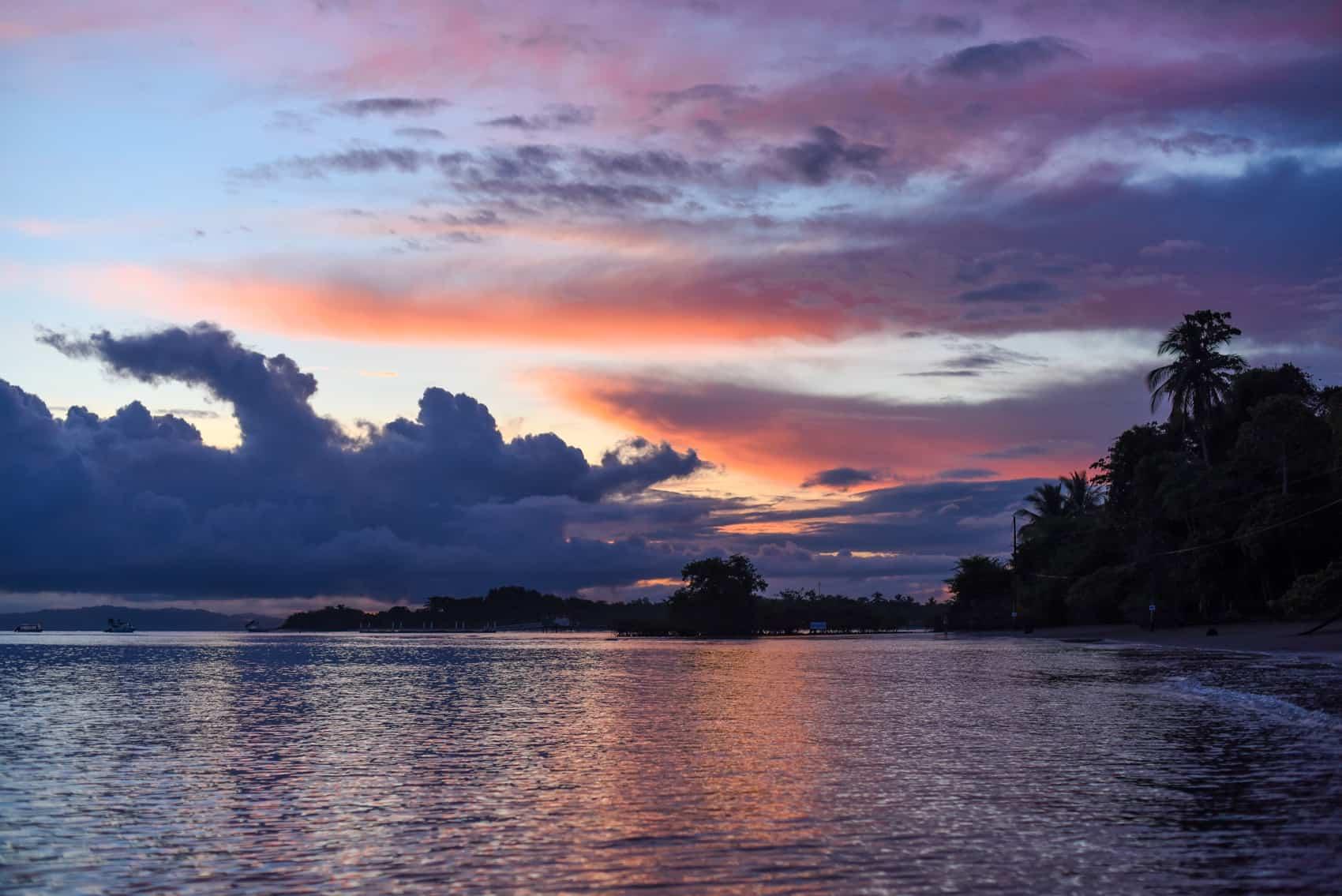 Golfo Dulce sunrise.