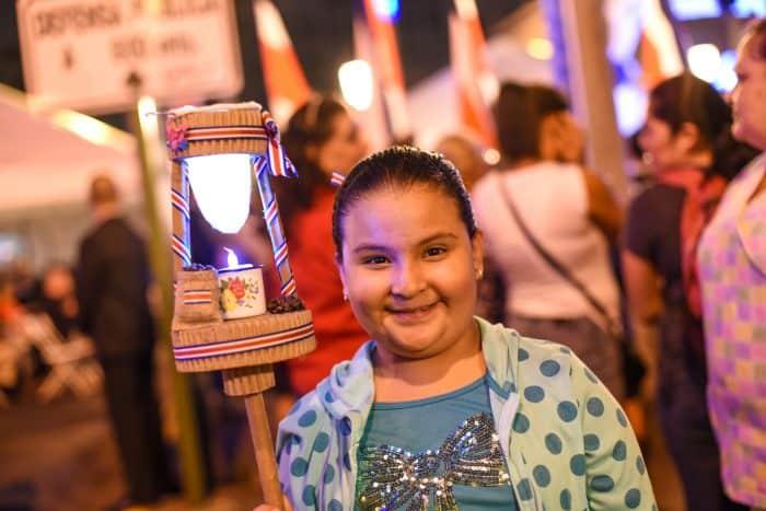 Fiorella Castañeda celebrates Costa Rica independence.
