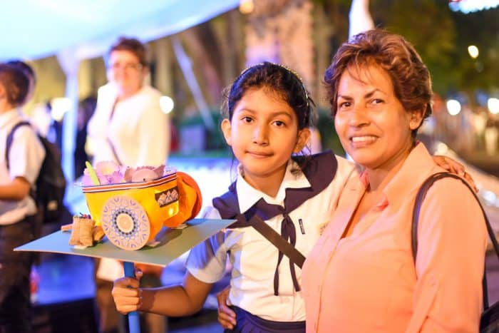 Denise Vidal celebrates Costa Rica independence.