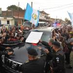 Guess who's riding in this car? Otto Pérez Molina arrives at the Matamoros military barracks in Guatemala City, on Sept. 3, 2015, his new home, at least until Tuesday.