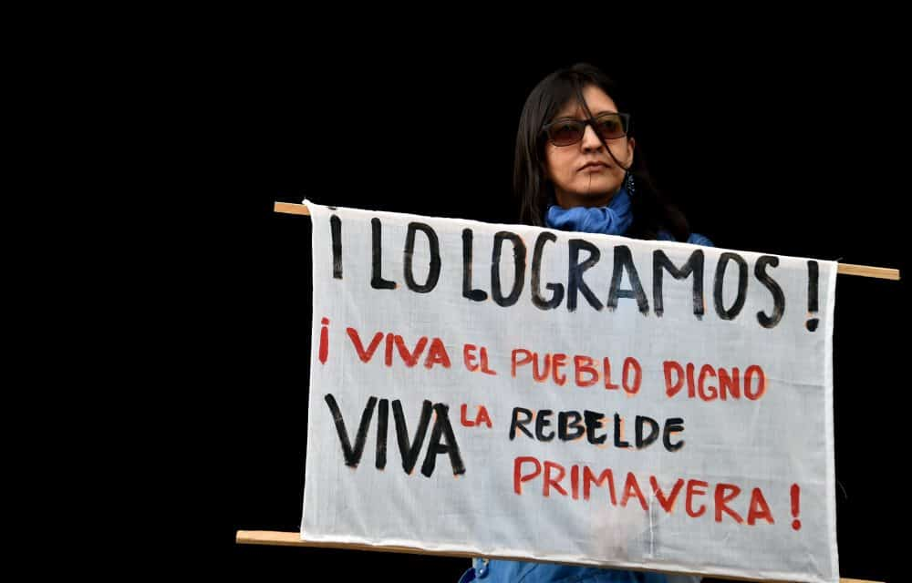 """""""We did it. Long live the dignified pueblo. Long live the rebellious spring."""""""