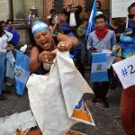 Protests were mostly peaceful and often colorful and energetic. This one took place in front of the Supreme Elections Tribunal in Guatemala City, on Sept. 3, 2015.