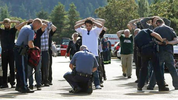School shooting at Oregon college.