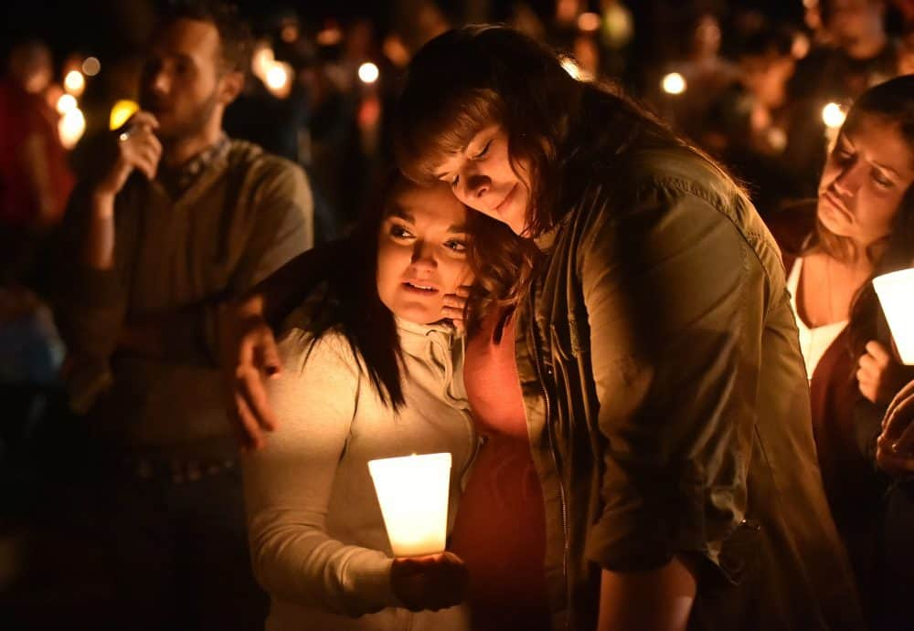 School shooting vigil at Oregon college.