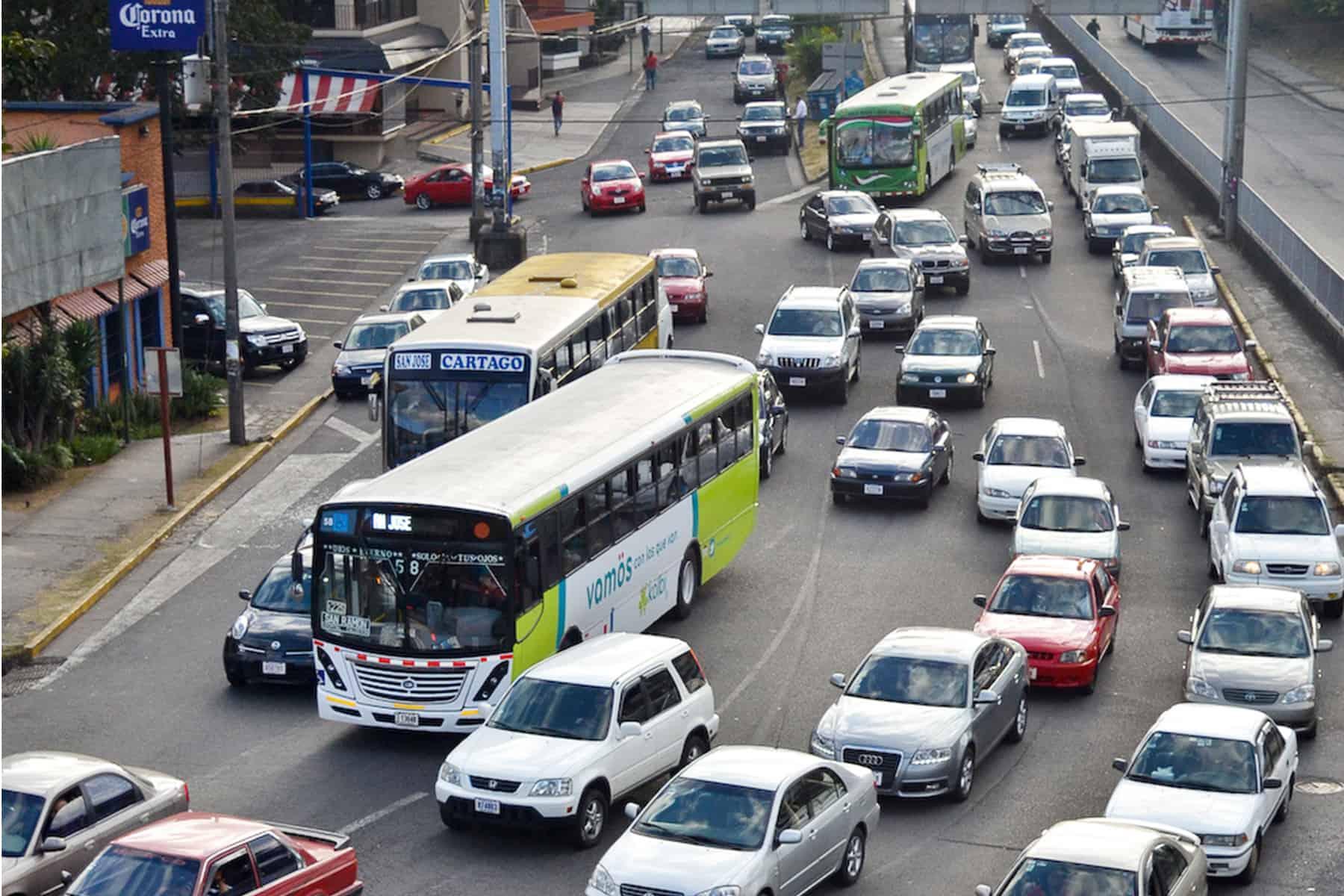 Traffic jams in San José