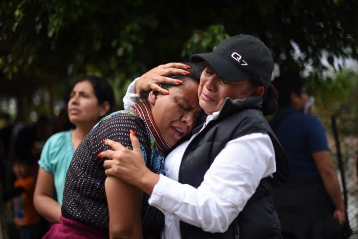 Guatemala landslide survivors.
