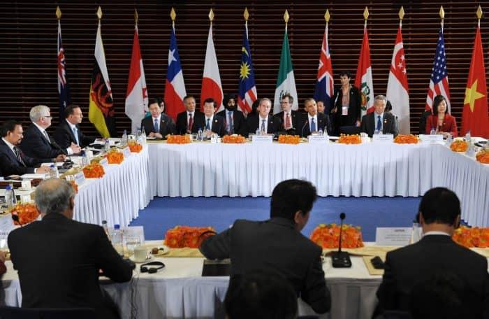 Trans-Pacific Partnership meeting.