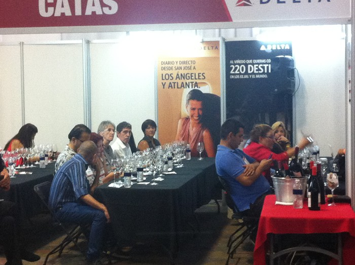 Wine tasting Wednesday at ExpoVino, at the Centro de Eventos Pedregal in Belén.