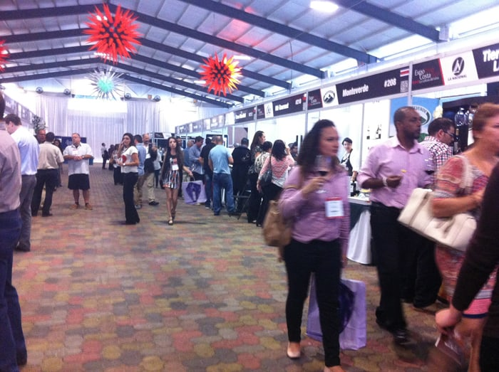 The scene at ExpoVino on Wednesday.