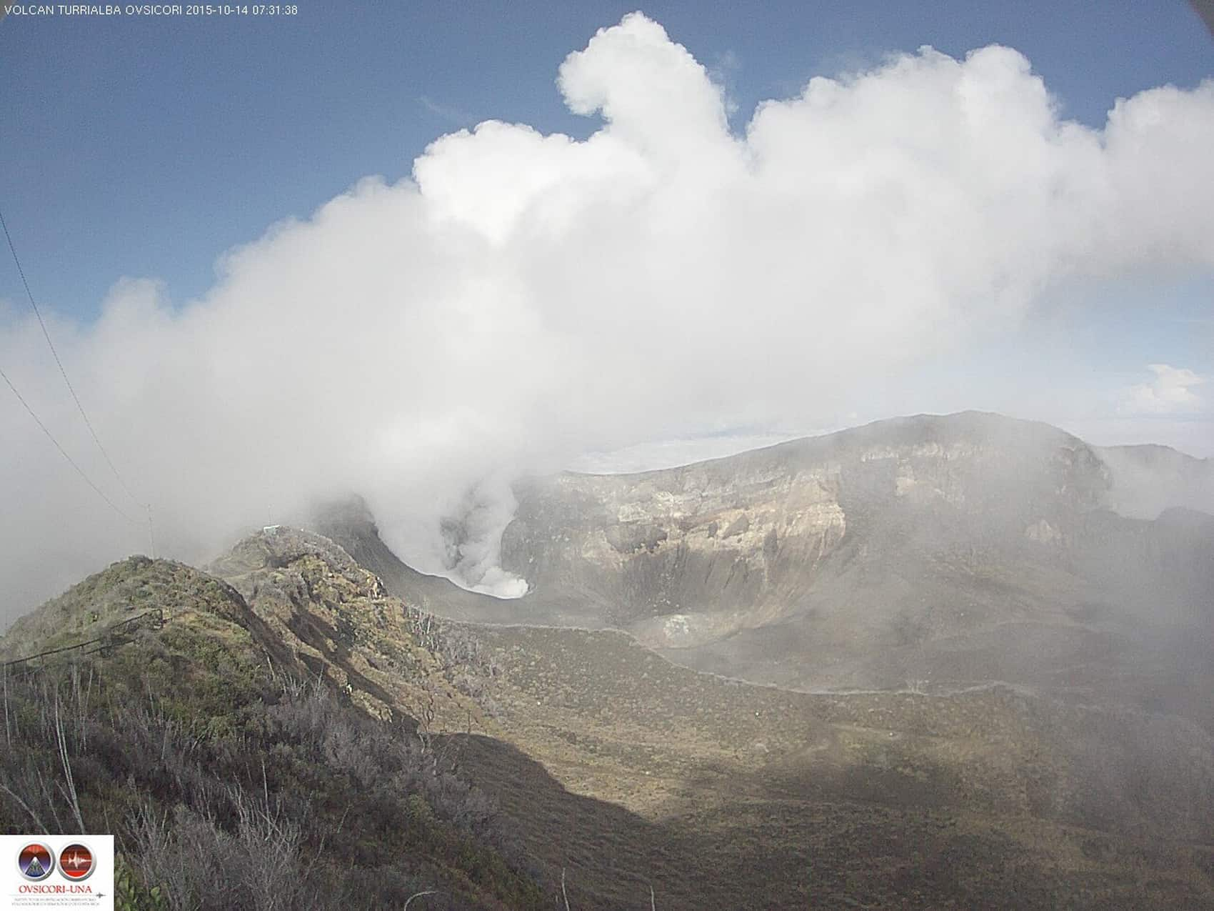 Turrialba Volcano crater