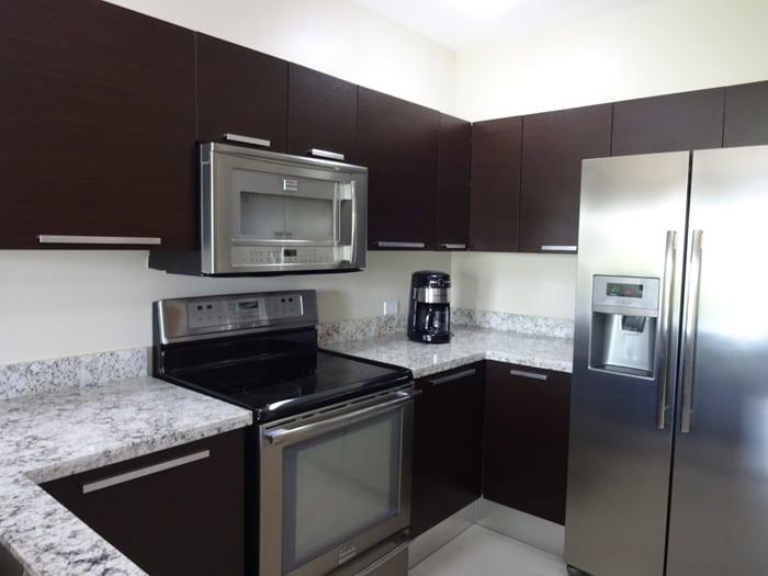 Kitchen of model condominium.