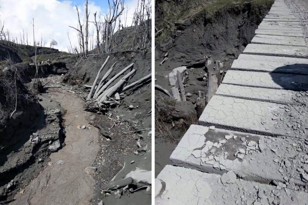 Ash deposits at Turrialba Volcano. Oct. 20, 2015