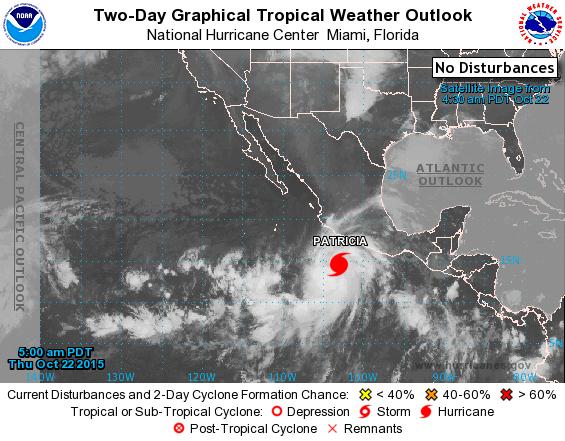 Hurricane Patricia graphic