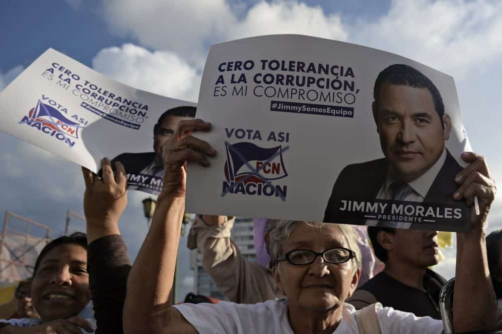 supporters of Jimmy Morales