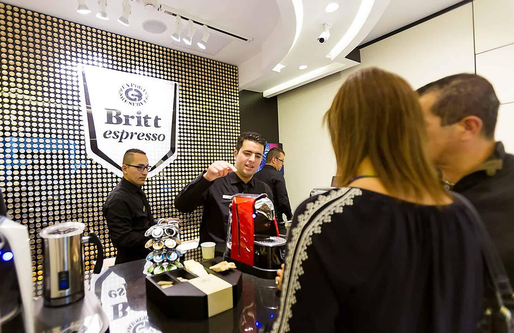 Britt espresso shop at Multiplaza Escazú