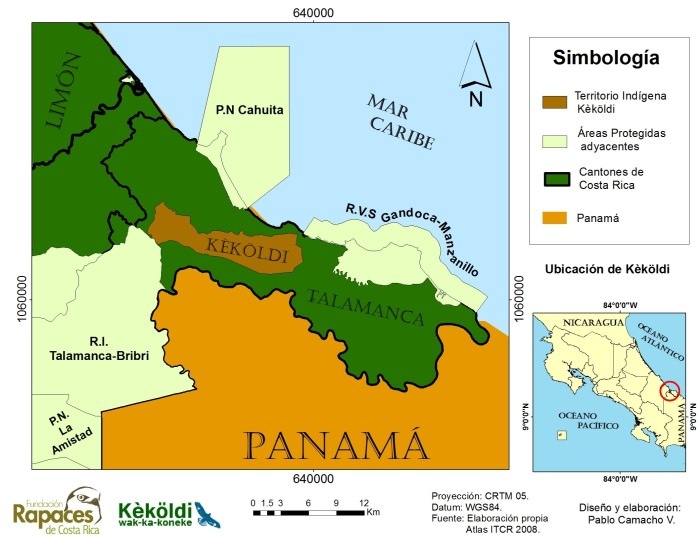 Map of Kekoldi Indigenous Reserve