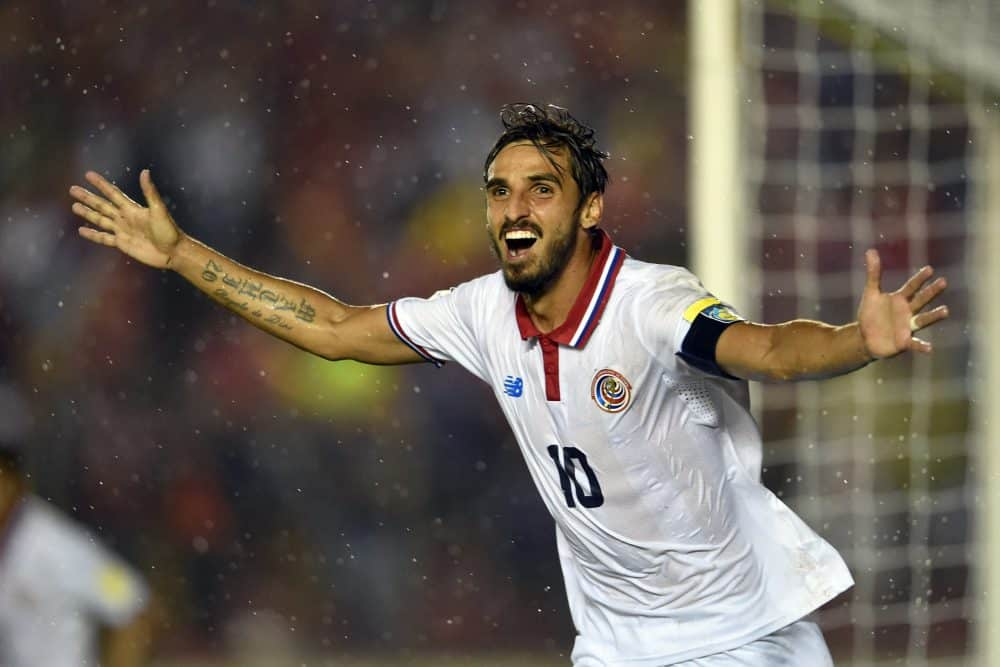 Costa Rica football player Bryan Ruiz