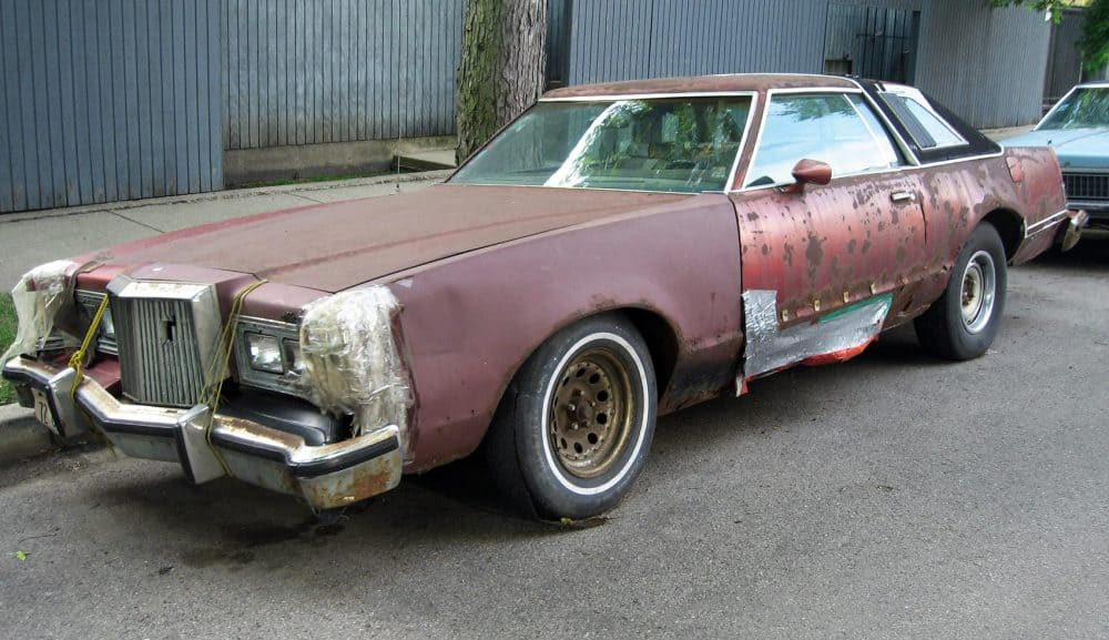 Beat-up car