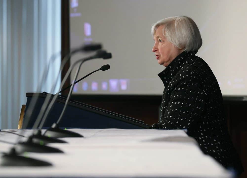 US interest rates: Fed chair Janet Yellen