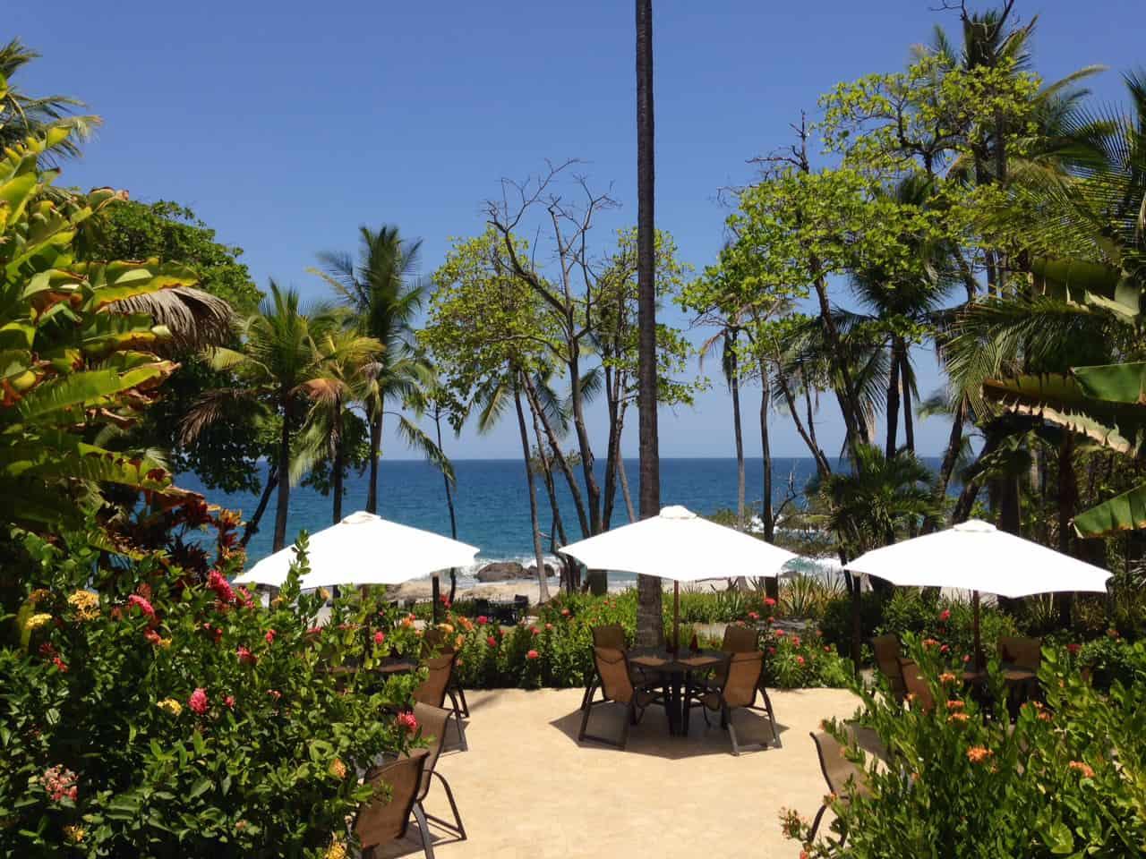 Oceanfront patio at Ylang Ylang Beach Resort