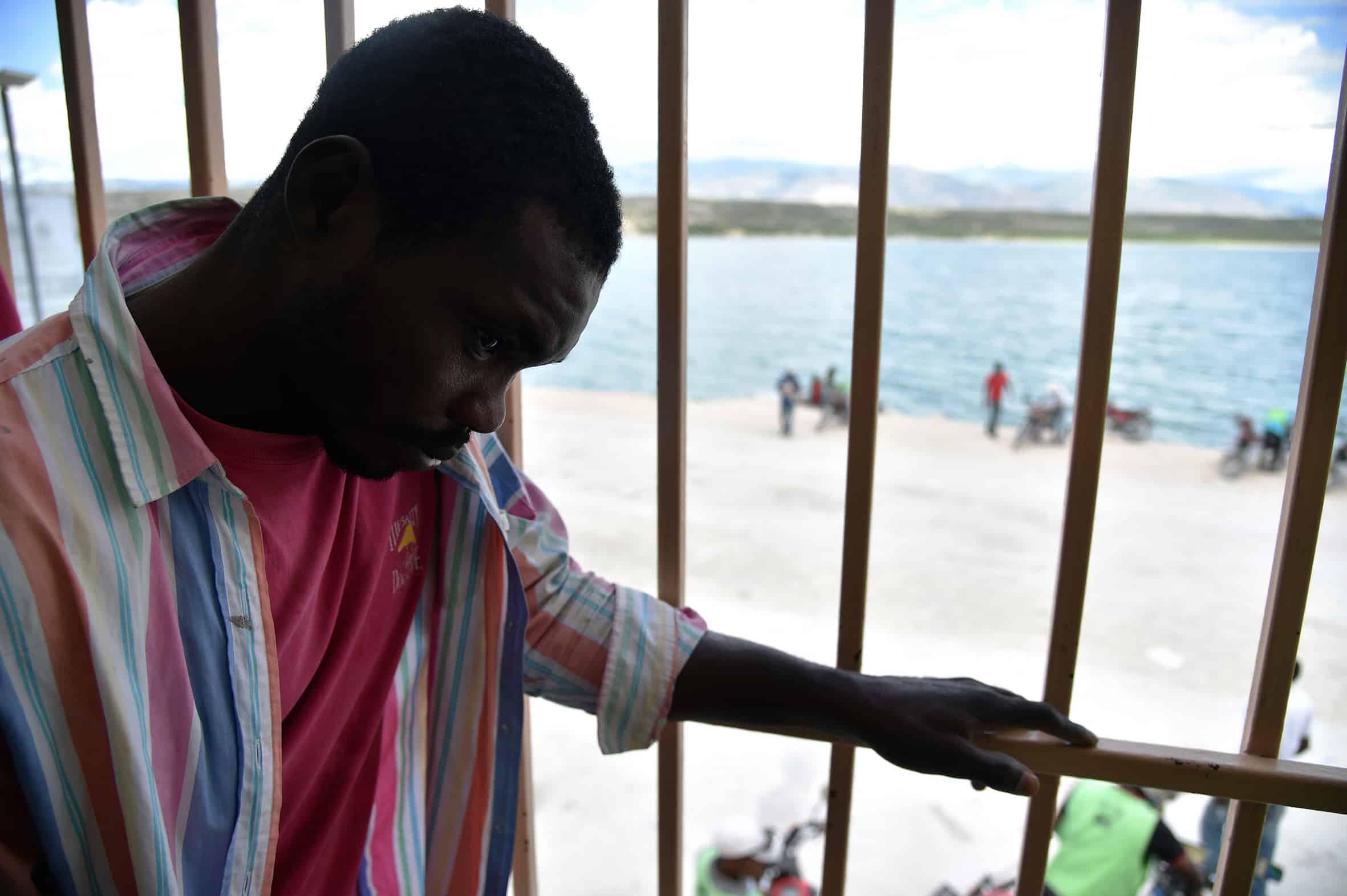 Haitian deportee in Malpasse
