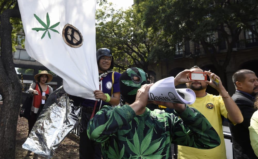 pot rally in Mexico City