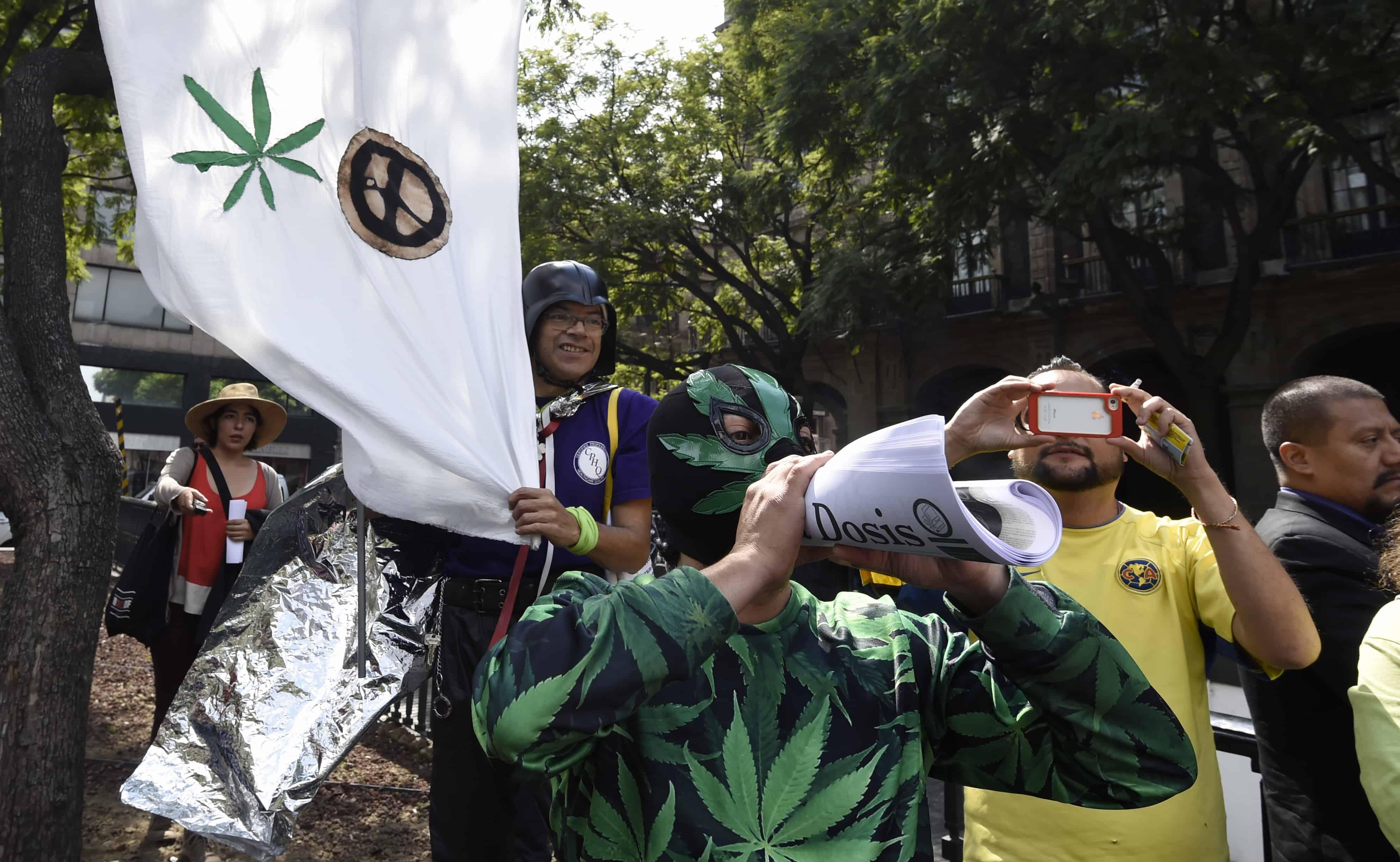 pot rally in Mexico City