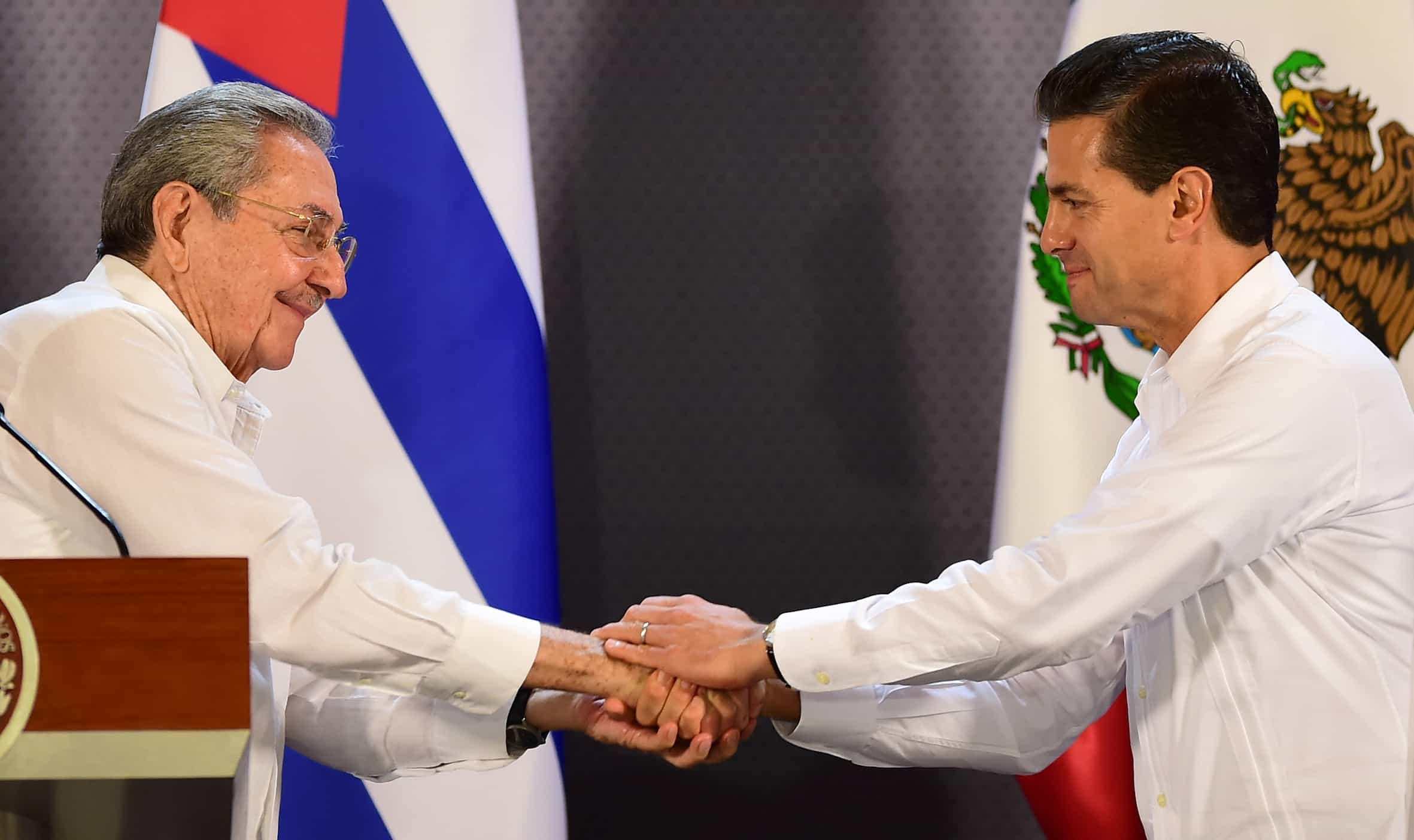 Cuba-Mexico ties: Raul Castro and Enrique Peña Nieto