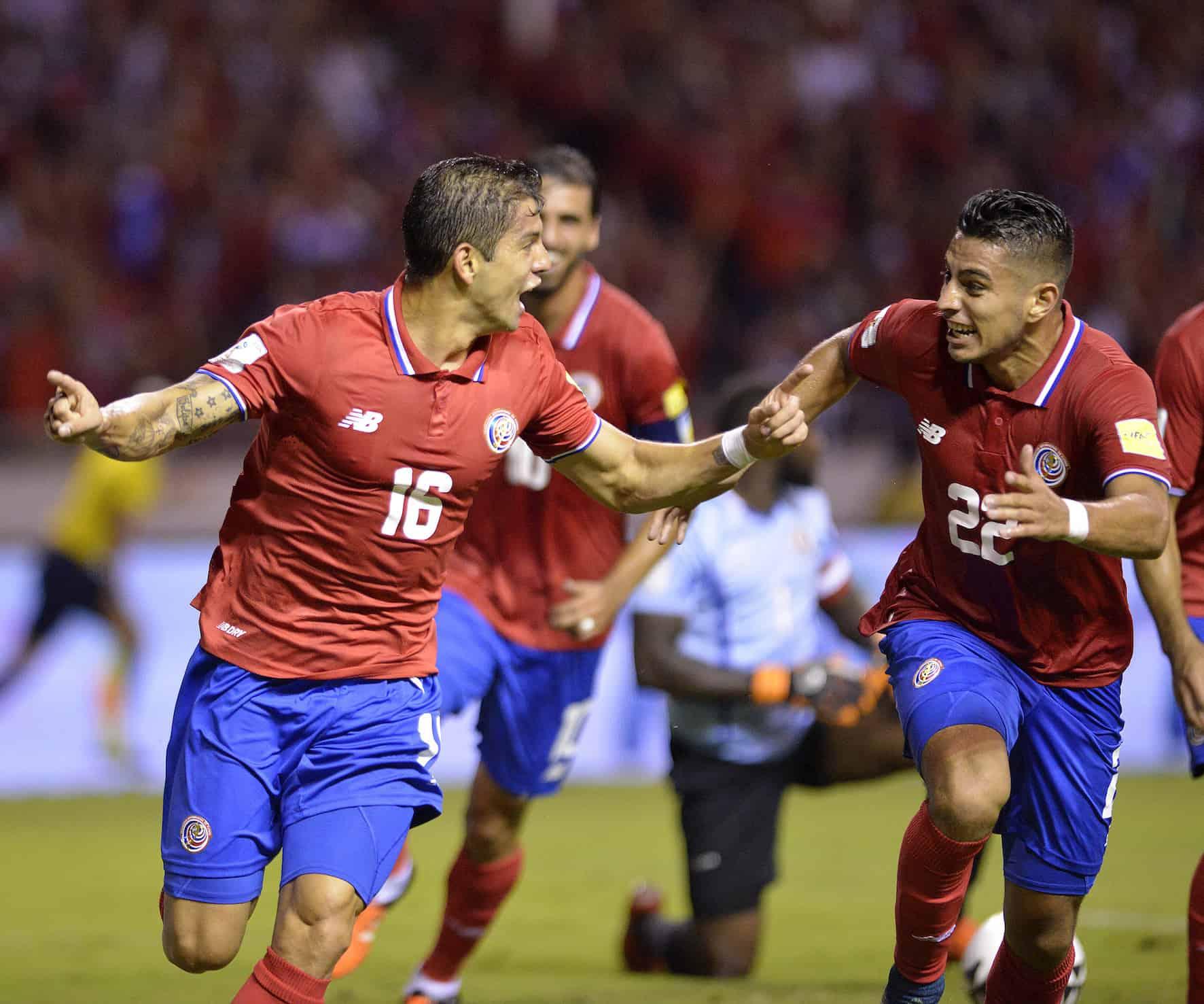 Costa Rica football players Cristian Gamboa and Ronald Matarrita