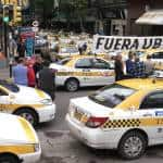 'Uber get out,' say protesting Uruguay taxi drivers