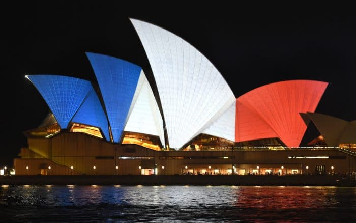 Sydney Paris attacks tribute