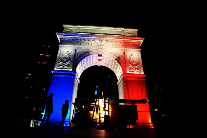 Paris attacks New York memorial