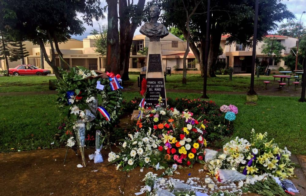 French memorials in San José.