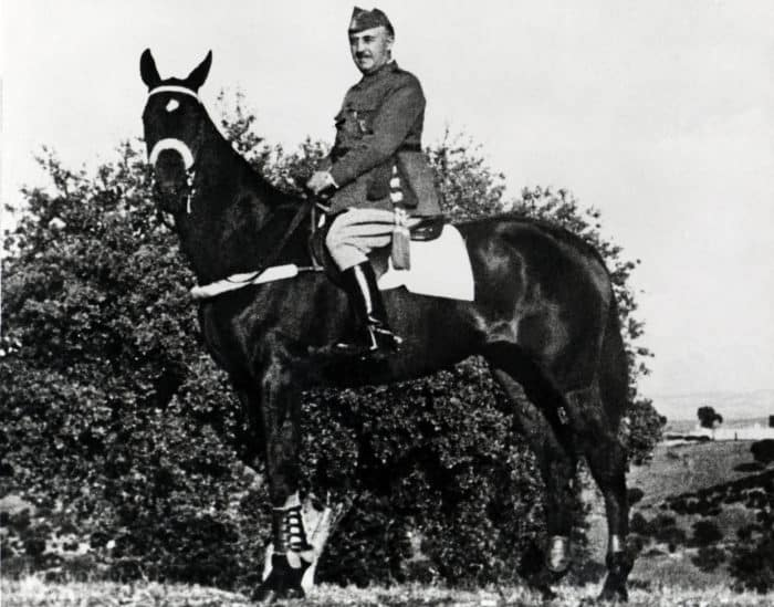 Franco on horse