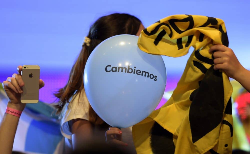 "elections in Argentina: ""Cambiemos"" balloon"
