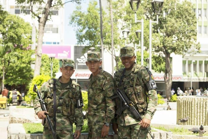 Colombia military soldiers.