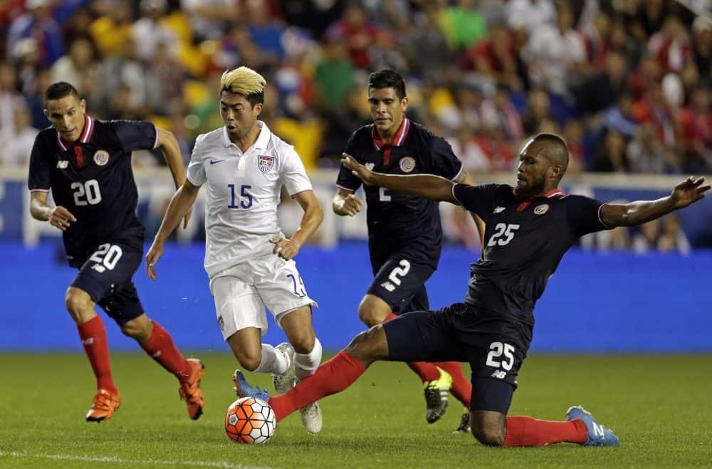Costa Rica vs Nicaragua football: Kendall Waston goal