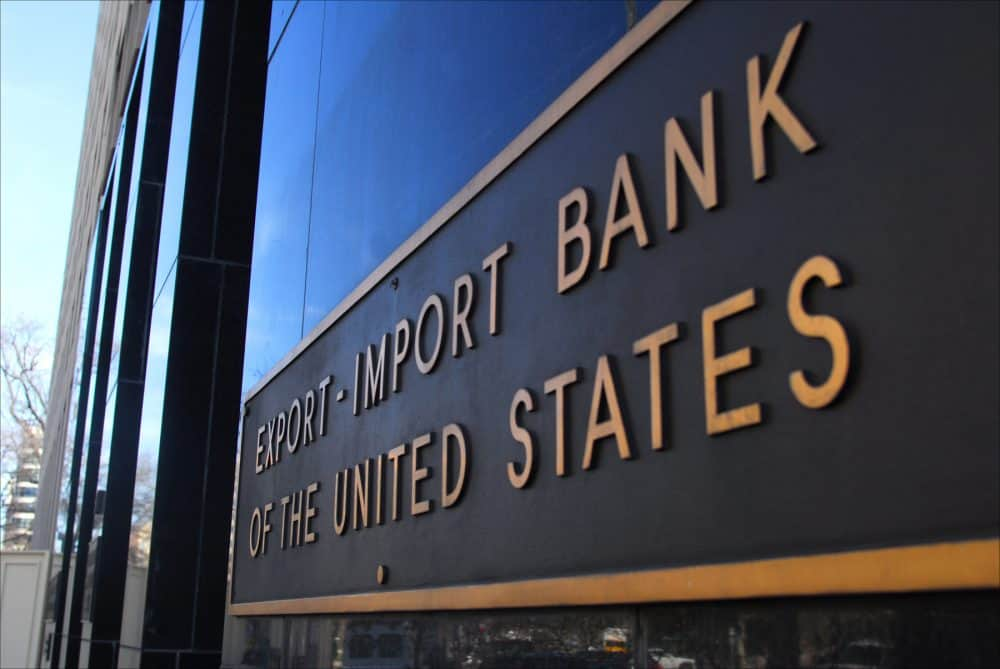 green finance, Export-Import Bank